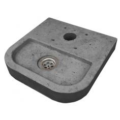 Корито за алуминиева градинска чешма - 37х37х6 см, сиво, квадратно