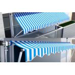 Тента с горно и долно закрепване синьо-бяла - 3 x 1,30 м