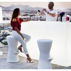 Светещ бар стол 40x40x70 см, LED RGB с дистанционно