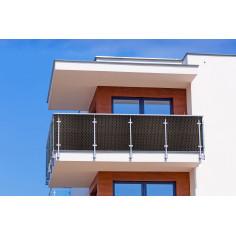 Екран за балкон и ограда от полиратан -  0,9х3 м - RD 02 тъмно кафяв цвят