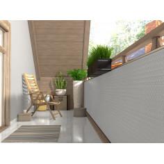 Екран за балкон от полиратан -  0,9х3 м - RD 07 бял цвят