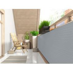 Екран за балкон и ограда от полиратан -  0,9х3 м - RD 17 сив цвят
