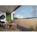 Екран за балкон и ограда от полиратан -  0,9х3 м - RD 18 цвят крем
