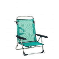 Сгъваем нисък плажен стол с...