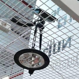 Соларeн фенер с външен панел, диаметър 160 мм