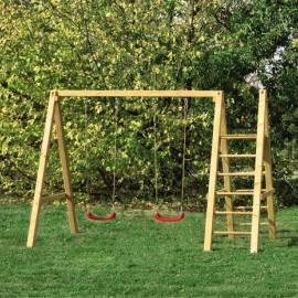 Детска люлка - дървена - 315 x 67 x 221 см