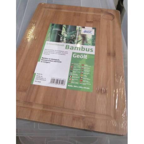 Дъска за рязане, бамбук, 390x280x18мм