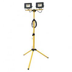 LED прожектор на статив Profi Depot Mobile - 2х30 W, 4000 К, 2х2400 lm, IP65, ДxШxВ 18x12,6x3,6 см