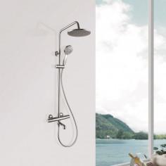 Душ система Inter Ceramic Авелин 6402 - Термостатен смесител, ръчен душ, душ пита