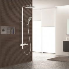 Душ система Inter Ceramic Марго 6372 - Термостатен смесител, ръчен душ, душ пита