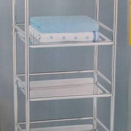 Етажерка за баня на колелца, 4 нива, 97x40x32 sm