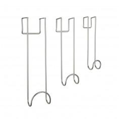 """Комплект от 3бр закачалки за врата """"SWOOP"""" - цвят никел - три размера"""