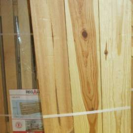 Ъглов рафт - ляв и десен, 85 x 30 см, дървен