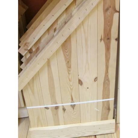 Ъглов рафт - ляв и десен, 85 x 50 см, дървен