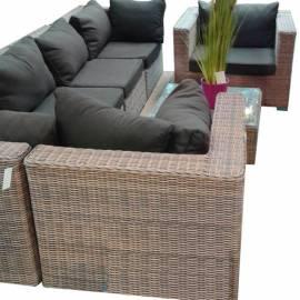 Mебели от ратан - комплект 7 части, капучино