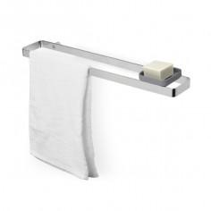 """Стенна закачалка за кърпи и поставка за аксесоари """"SCILLAE"""" - цвят хром"""