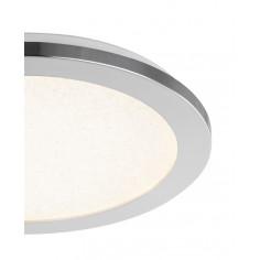 LED плафон Globo Simly - 18 W, 3000-6500 К, 1200 lm, IP44, ØхВ 30x3 см, хром