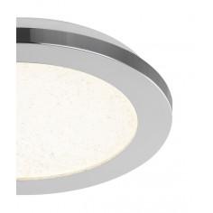 LED плафон Globo Simly - 12 W, 3000-6500 К, 870 lm, IP44, ØхВ 22,5x3 см, хром