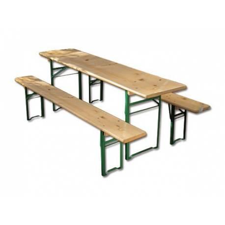 Градинска маса и пейки - дървени - комплект