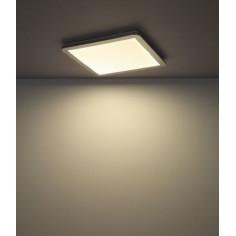 LED Плафон Globo Gussago - 1XLED, хром, пластмаса