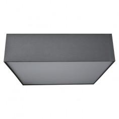 Плафон Tessile - 60 W, 40x40x11 см, квадратен, сив