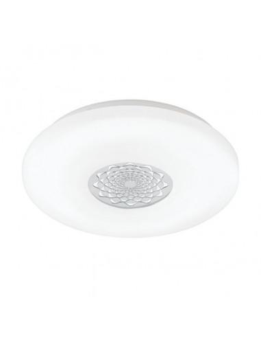 LED плафон Capasso 96026 - 24 W, 3000 К, 2500 lm, ØхВ 40х7 см, бял, хром