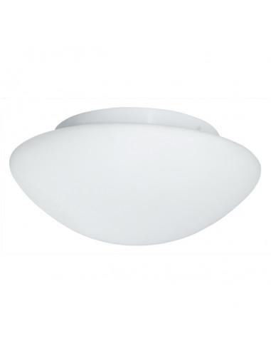 Плафон за баня Searchlight - 3х40 W, E27, IP44, Ø35 см, бял опал, стъкло