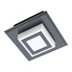 LED плафон Masiano 99361 - 3,3 W, 3000 К, 340 lm, ДхШхВ 12х12х5,5 см, черен, сатен