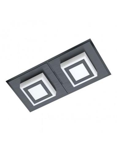 LED плафон Masiano 99362 - 2х3,3 W, 3000 К, 2х340 lm, ДхШхВ 25х12х5,5 см, черен, сатен