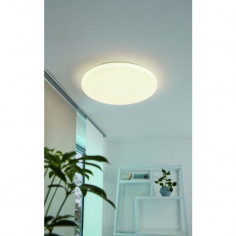 LED плафон Pogliola 75502 - 18 W, 3000 К, 1650 lm, ØхВ 31х5,5 см, стомана, пластмаса, бял