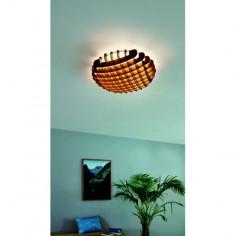 LED плафон Valdecabras 98429 - 33 W, 3000 К, 3900 lm, Ø51 см, пластмаса, дърво