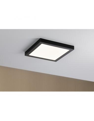LED плафон Paulmann Abia - 300х300 мм, 22 W, 2700 К, 3200 lm, черен, мат