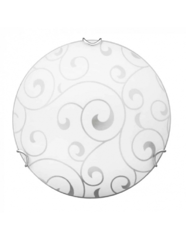 Плафон Елиз - 60 W, 1хE27, IP20, Ø30 см, бял, хром