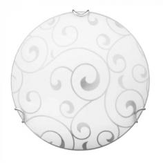 Плафон Елиз - 70 W, 2хE27, IP20, Ø40 см, бял, хром