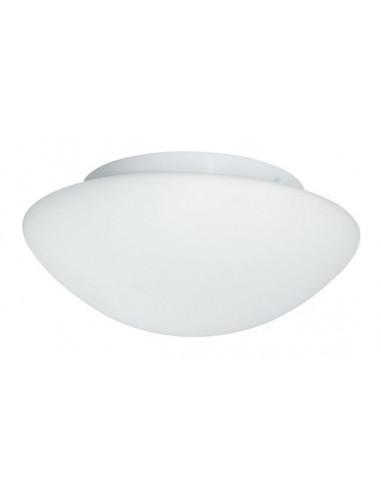 Плафон за баня Flush - 2х40 W, 2хE27, IP44, Ø28 см, бял опал, стъкло