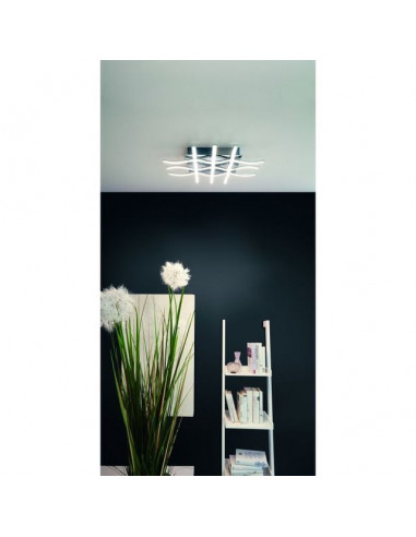 LED плафон Lasana 95569 - 36 W, 3000 К, 3780 lm, ДхШхВ 50х50х6,5 см, хром