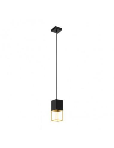LED пендел Montebaldo 97733 - 25 W, GU10, 110 см, черен, златист