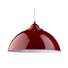 Пендел Searchlight Fusion - 60 W, 1хE27, Ø34 см, червен, бял, сребрист