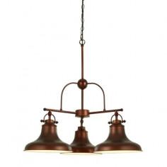 Пендел Searchlight Dallas - 3х60 W, 3хE27, 3хØ25 см, антично кафяв