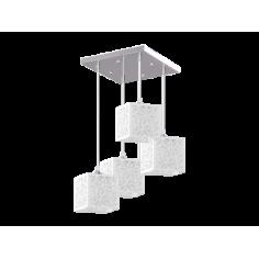 Пендел Anika - 4х60 W, 4хЕ27, хром, бял