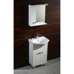 Шкаф с умивалник Спенсър 5050S - 42х50х85 см, PVC, бял, 2 врати