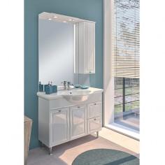 Комплект мебел за баня Palace - 2 шкафа, умивалник, огледало, лайсна с LED осветление