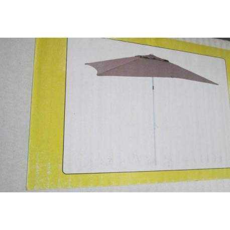 Градински чадър - 300x300 см, кафяв