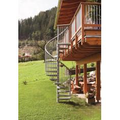 Външна вита стълба Rondo Zink Plus, метална, диаметър - Ø: 120, 140, 160 см