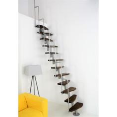 Стълба пачи крак MONACO с извити стъпала от масивен орех