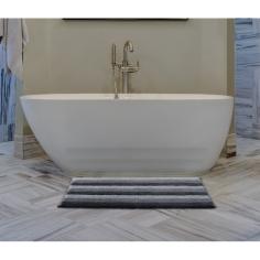 Килим за баня Lines - 55x90 см, 100% памук