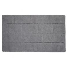 Килим за баня Wall Норка - 55х100 см, 100% памук, сив