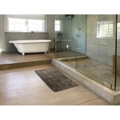 Килим за баня Wall - 55х100 см, 100% памук, натюр