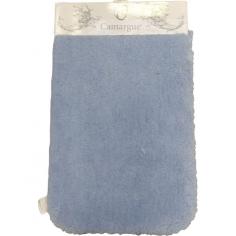Килим за баня Wuschel - 50х80 см, микрофибър, син