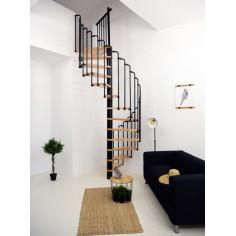Вита стълба Paris, Ø:140 см, метал-черен, дърво-бук